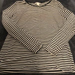 Long sleeve striped tee, good condition